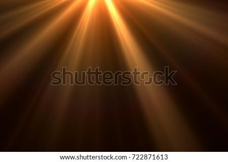 Sun rays light isolated on black background for overlay design - Shutterstock ID 722871613