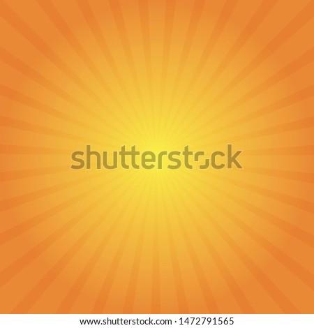 Sun rays. Sun rays in gradient color. Orange and yellow. Illustration