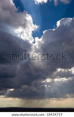 Sun Rays with Rain