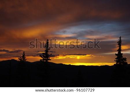 Sun reflection, Rocky Mountains, Colorado