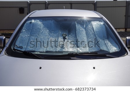 Sun Reflector windscreen. Protection of the car panel from direct sunlight. #682373734