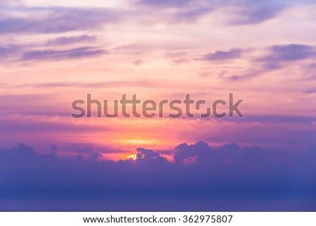 Sun rise and sun set background.