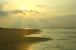sun rise on sea in morning, bay of bengal,India