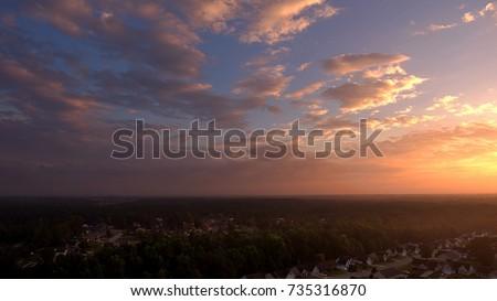 Sun rise over Fayetteville North Carolina #735316870