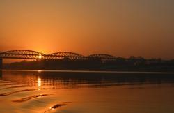 Sun rise view at Rajghat, Varanasi
