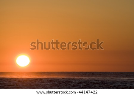 Sun rising over the Gulf of California in San Carlos, Sonora Mexico.