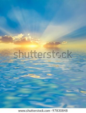 Sun Rocket Gold Shining
