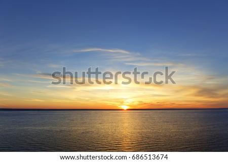 sun sea sunset. #686513674