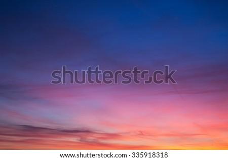 sun set clouds