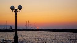 Sun set in Greece / Gouves, Crete