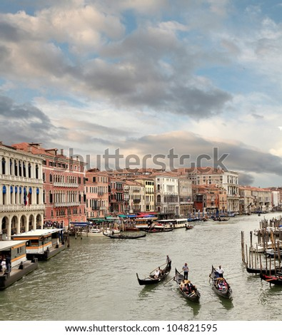 Sun Sets on the Grand Canal Venice, Italy