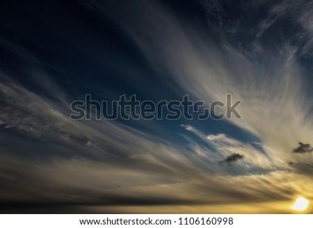 Sun setting dusk #1106160998