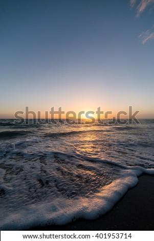 Sun setting on the west coast of Florida #401953714