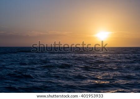 Sun setting on the west coast of Florida #401953933