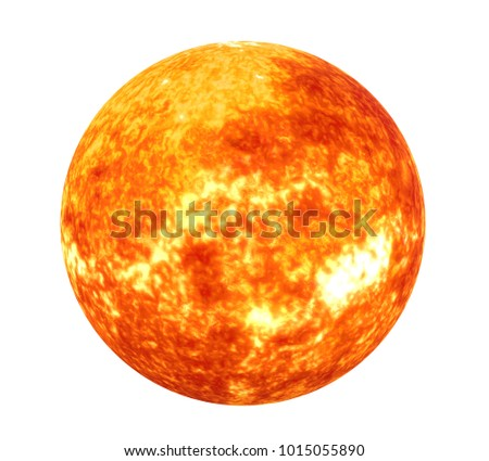 Sun Solar System Isolated (Elements of this image furnished by NASA)