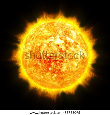 Sun star illustration - stock photo