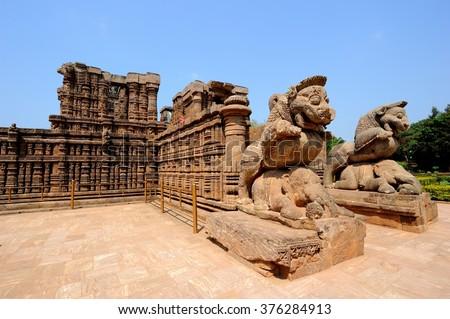 Sun Temple close to Puri, India