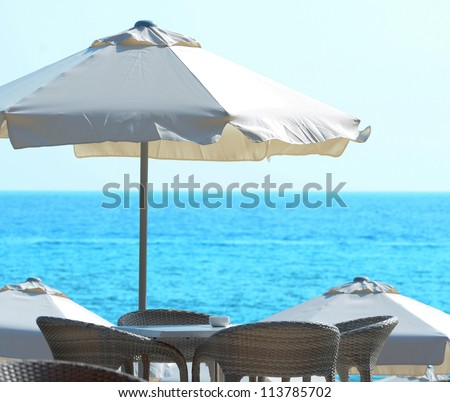 Sun umbrella at seaside