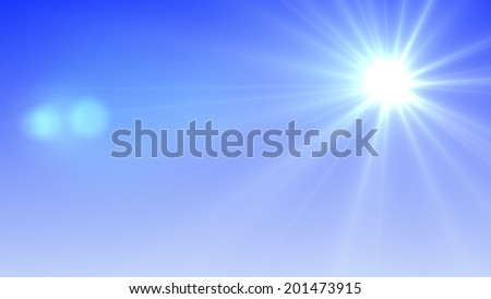 Sun with lens flare (super high resolution) #201473915