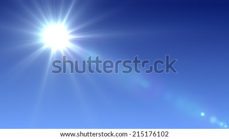 Sun with lens flare (super high resolution) #215176102