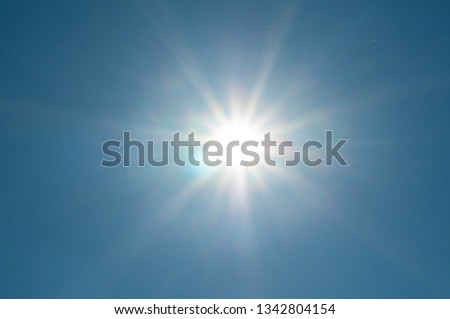 sun with massive lensflare #1342804154