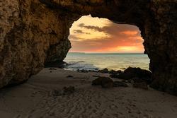Sunayama Beach, the sea of Miyakojima Island in Okinawa, Japan