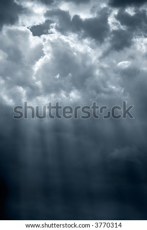 Sunbeam through the storm clouds(slightly cyan toned)