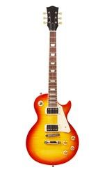 sunburst electric guitar, isolated on white background