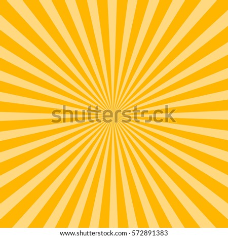 Sunburst pattern, sunrise background, yellow retro round lines