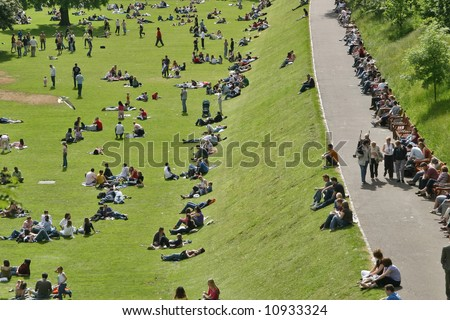 Sunday afternoon in the park - stock photo