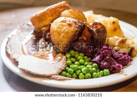 sunday roast dinner #1163830210
