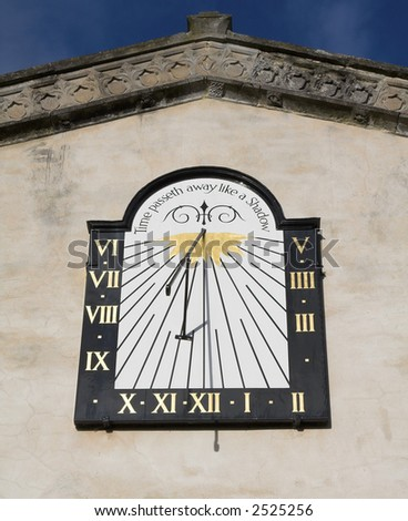 sundial with writing (time passeth away like a shadow)