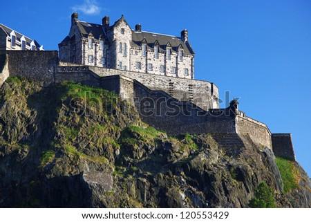 Sundown at Edinburgh Castle , Scotland, UK