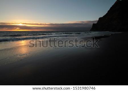 sundown at the beach gui-gui chico gran canaria #1531980746