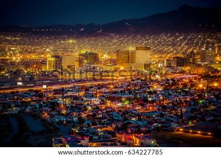 Sundown in El Paso, Texas.