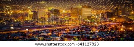 Sundown in El Paso, Texas. Foto stock ©