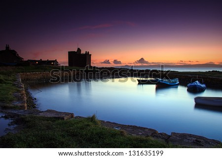 sundown on the west coast of scotland