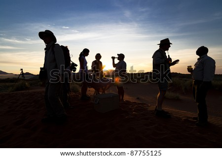 Sundowner in Namibia