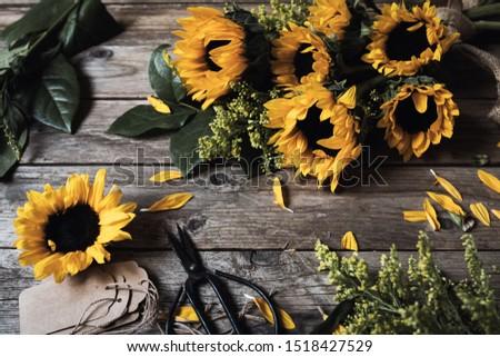 Sunflower Autumn Rustic Still Life