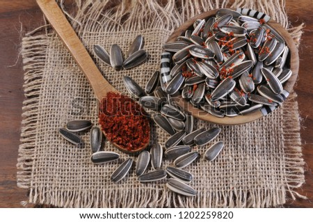 sunflower seeds with pepper