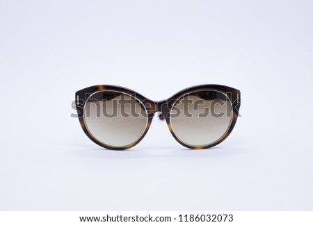 Sunglasses. Eyewear. Sunglasses with case. Sunglasses isolated on a white background #1186032073
