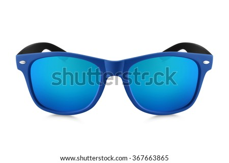 sunglasses isolated on white background  #367663865