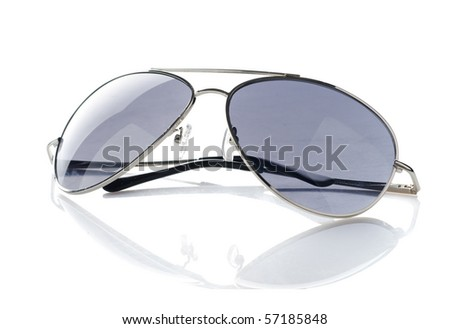 Sunglasses isolated over white.