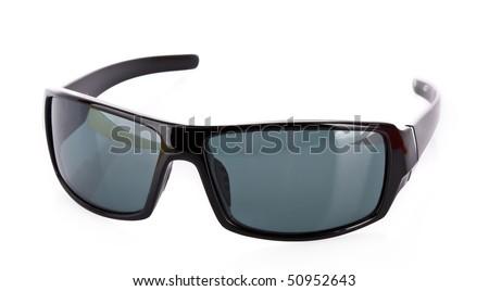 Sunglasses over white