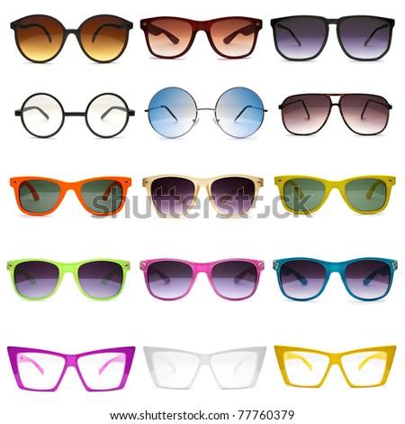 Sunglasses. Photo set - Shutterstock ID 77760379
