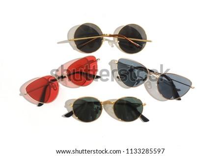 sunglasses set cat's eye and round, trend 2018, 2019 #1133285597