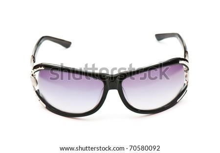 Sunglasses shot isolated on a white background. Studio