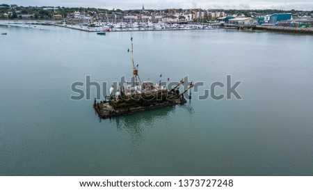 Sunk trawler in Harbour