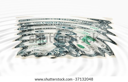 Sunken Dollar concept for weak currency