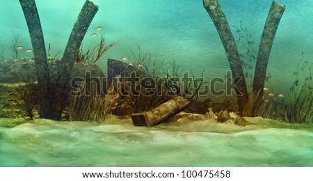 Stock Photo Sunken Ruins